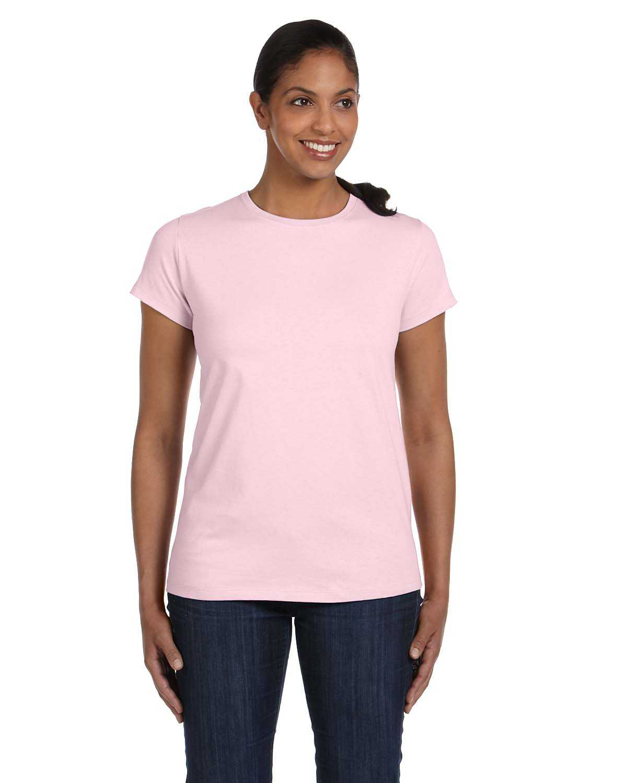Hanes 5680 ladies 39 6 1 oz tagless t shirt for Hanes comfortsoft tagless t shirt review