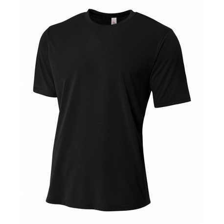 A4 N3264 Men's Shorts Sleeve Spun Poly T-Shirt