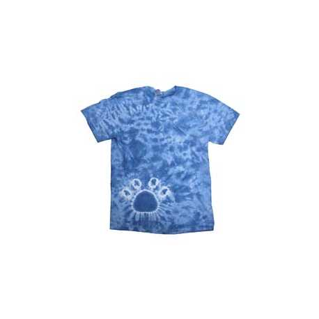 Tie-Dye 1170Y Youth Short Sleeve Paw Print Tie Dye T-Shirt