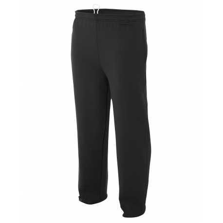 A4 N6189 Men's Open Bottom Pocketed Fleece Pants