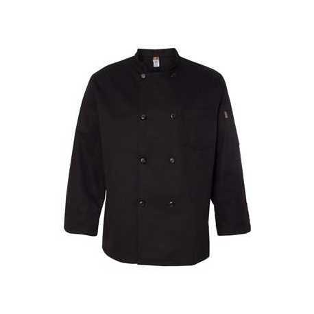 Chef Designs KT76 Black Traditional Chef Coat