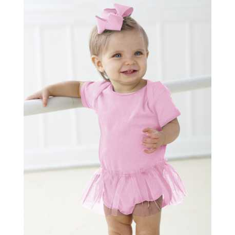 Rabbit Skins 4422 Infant Baby Rib Lap Shoulder Tutu Creeper