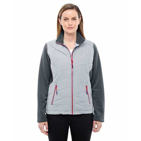 North End Sport Red 78809 Ladies' Quantum Interactive Hybrid Insulated Jacket