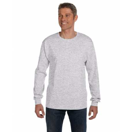 Hanes 5596 Men's 6.1 oz. Tagless Long-Sleeve Pocket T-Shirt