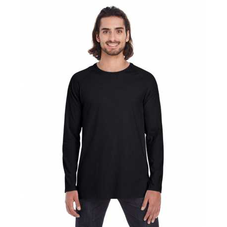 Anvil 5628 Adult Lightweight Long & Lean Raglan Long Sleeve T-Shirt