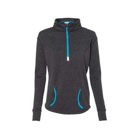 J. America 8617 Women's Cosmic Fleece Quarter-Zip Pullover