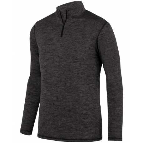 Augusta Sportswear 2956 Youth Intensify Black Heather 1/4 Zip Pullover