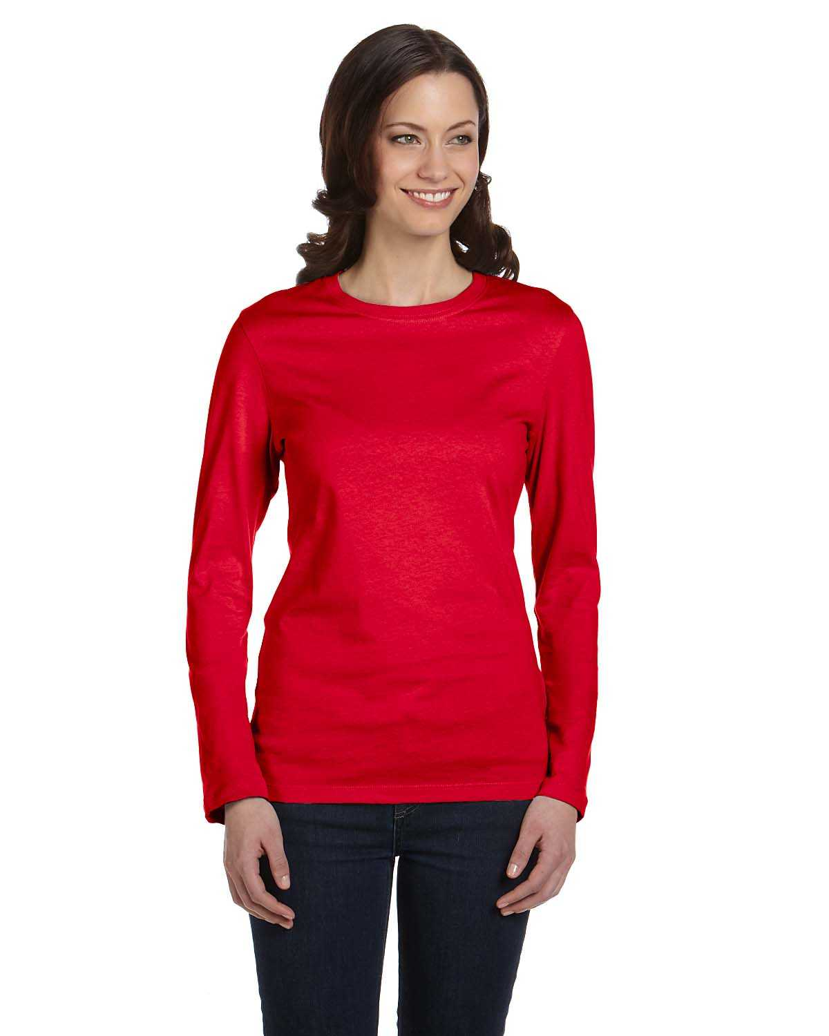 Bella canvas b6500 ladies 39 jersey long sleeve t shirt for Womens long sleeved t shirts