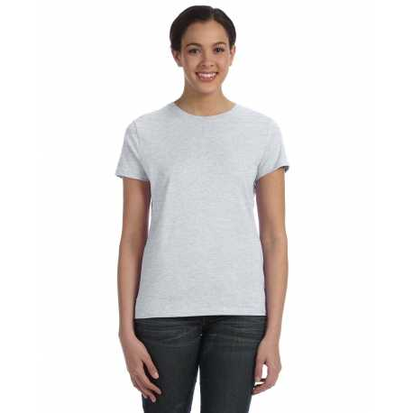 Hanes SL04 Ladies' 4.5 oz., 100% Ringspun Cotton nano-T T-Shirt