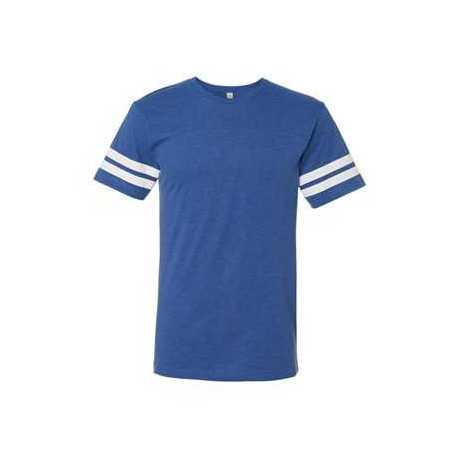 LAT 6937 Adult Football Fine Jersey Tee