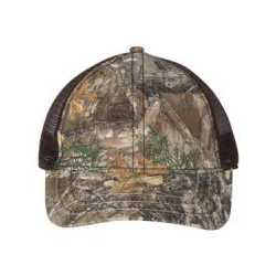 Outdoor Cap CWF310 Mesh-Back Camo Cap with Flag Undervisor