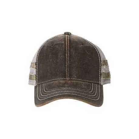 Outdoor Cap HPC400M Frayed Camo Stripes Mesh-Back Cap