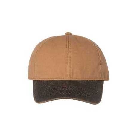 Outdoor Cap HPK100 Weathered Canvas Crown Cap with Contrast-Color Visor