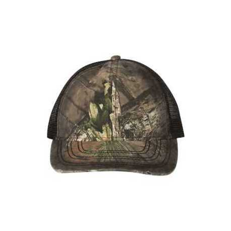 Outdoor Cap OSC100M Oil-Stained Camo Mesh-Back Trucker Cap