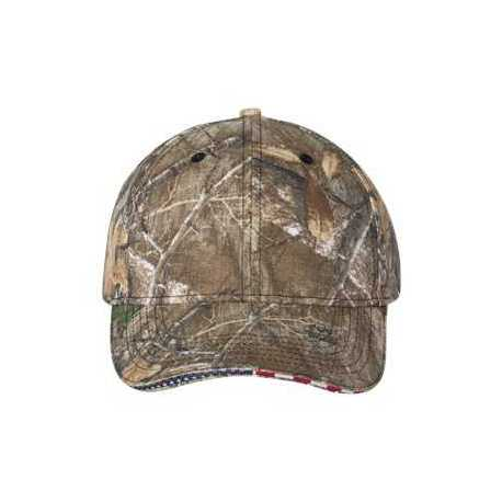 Outdoor Cap USA350 Camo Cap with Flag Sandwich Visor