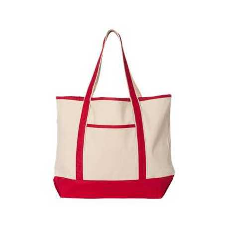 Q-Tees Q1500 34.6L Large Canvas Deluxe Tote