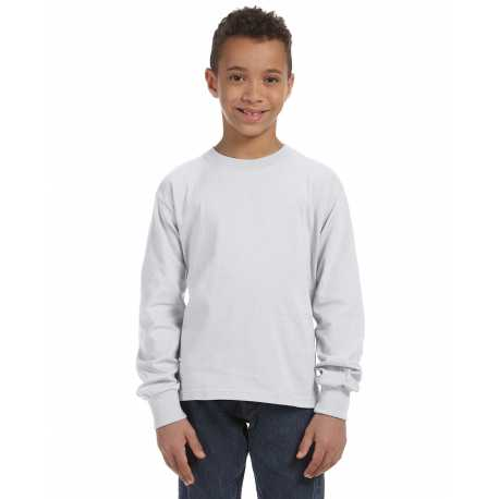 Fruit Of The Loom 4930B Youth 5 oz. HD Cotton Long-Sleeve T-Shirt