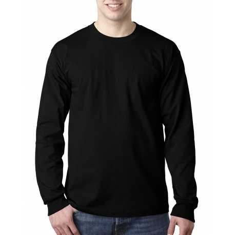 Bayside BA8100 Adult Adult Long-Sleeve Tee with Pocket