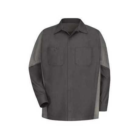 Red Kap SY10L Long Sleeve Automotive Crew Shirt - Long Sizes