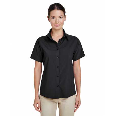 Harriton M610SW Ladies' Paradise Short-Sleeve Performance Shirt