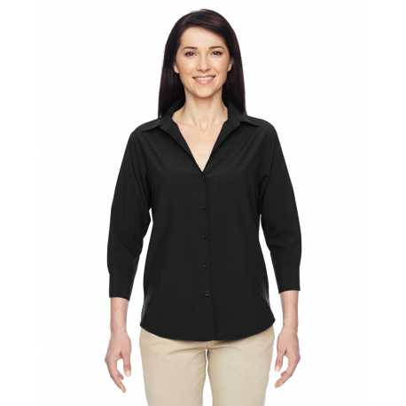 Harriton M610W Ladies' Paradise 3/4-Sleeve Performance Shirt