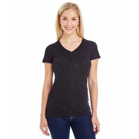 J America JA8136 Ladies' Glitter V-Neck T-Shirt
