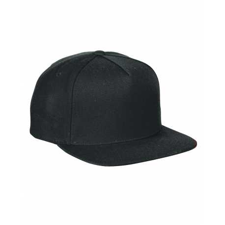 Yupoong YP5089 Adult 5-Panel Structured Flat Visor Classic Snapback Cap