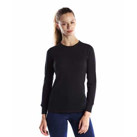 US Blanks US199 Ladies' 5.8 oz. Long-Sleeve Thermal Crewneck