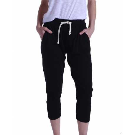 US Blanks US204 Ladies' 2x1 Ribbed Capri Sweatpant
