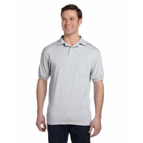 Hanes 054P Men's 5.2 oz., 50/50 EcoSmart Jersey Pocket Polo
