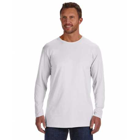 Hanes 498L Men's 4.5 oz., 100% Ringspun Cotton nano-T Long-Sleeve T-Shirt