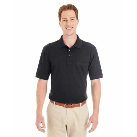 Harriton M200P Adult 6 oz. Ringspun Cotton Pique Short-Sleeve Pocket Polo