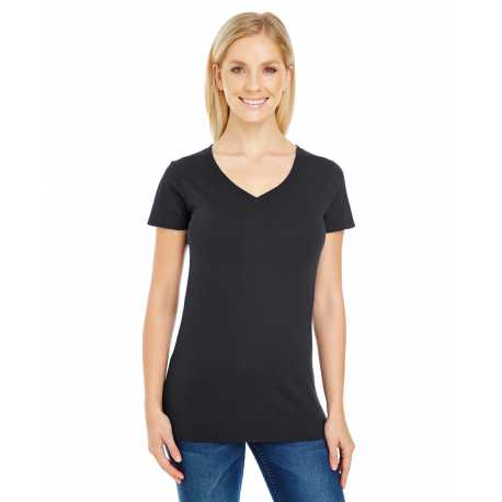 Threadfast Apparel 230B Ladies' Pigment Dye Short-Sleeve V-Neck T-Shirt