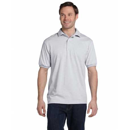 Hanes 054 Men's 5.2 oz., 50/50 EcoSmart Jersey Knit Polo