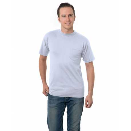 Bayside BA3015 Adult ADULT UNION MADE POCKET TEE