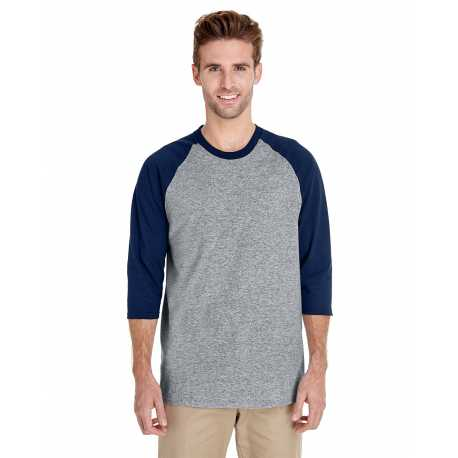 Gildan G570 Adult Heavy Cotton 5.3 oz., 3/4 Raglan Sleeve T-Shirt