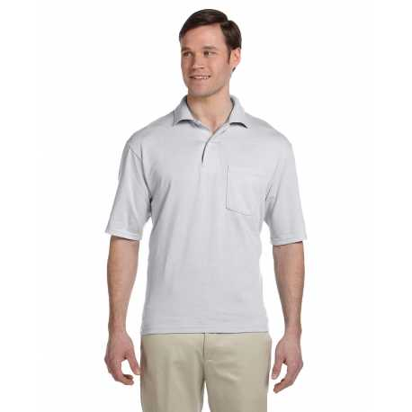 Jerzees 436P Adult 5.6 oz., SpotShield Pocket Jersey Polo