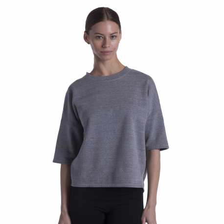 US Blanks US218 Ladies' Open Cross Back Drop Shoulder Sweatshirt