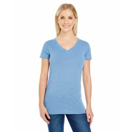 Threadfast Apparel 208B Ladies' Vintage Dye Short-Sleeve V-Neck T-Shirt