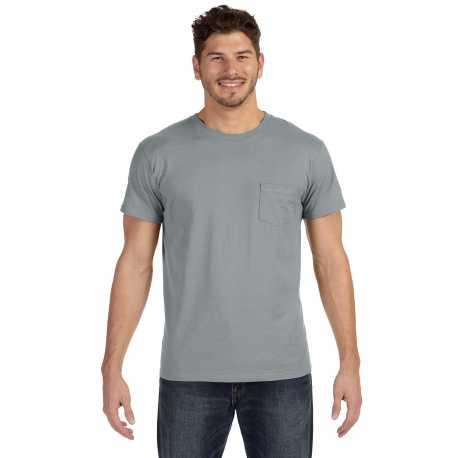 Hanes 498P Men's 4.5 oz., 100% Ringspun Cotton nano-T T-Shirt with Pocket