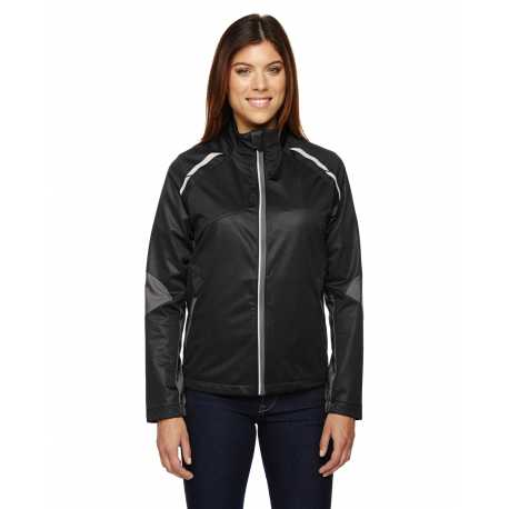 North End Sport Red 78654 Ladies' Dynamo Three-Layer Lightweight Bonded Performance Hybrid Jacket