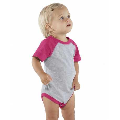 Rabbit Skins RS4430 Infant Baseball Fine Jersey Bodysuit