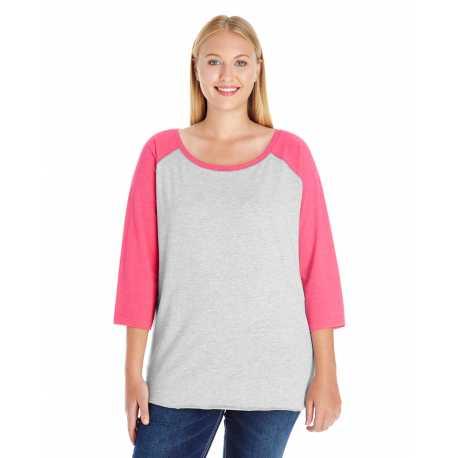 LAT 3830 Ladies' Curvy Baseball Premium Jersey T-Shirt