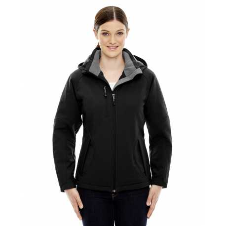 North End 78080 Ladies' Glacier Insulated Three-Layer Fleece Bonded Soft Shell Jacket with Detachable Hood