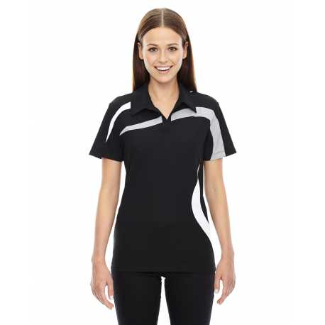 North End Sport Red 78645 Ladies' Impact Performance Polyester Pique Colorblock Polo