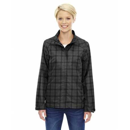 North End Sport Blue 78671 Ladies' Locale Lightweight City Plaid Jacket