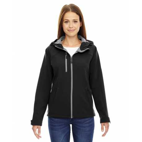 North End 78166 Ladies' Prospect Two-Layer Fleece Bonded Soft Shell Hooded Jacket