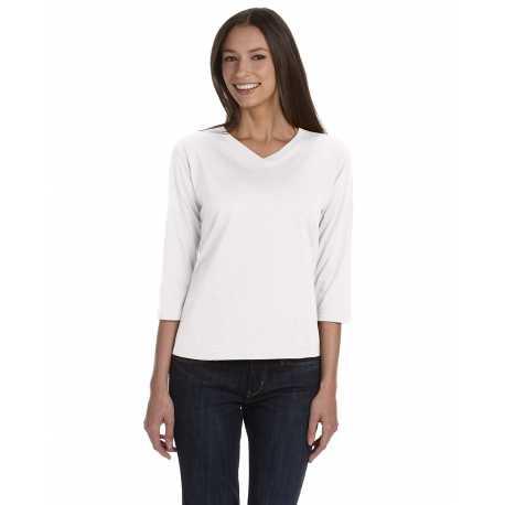 LAT 3577 Ladies' 3/4 Sleeve Premium Jersey T-Shirt