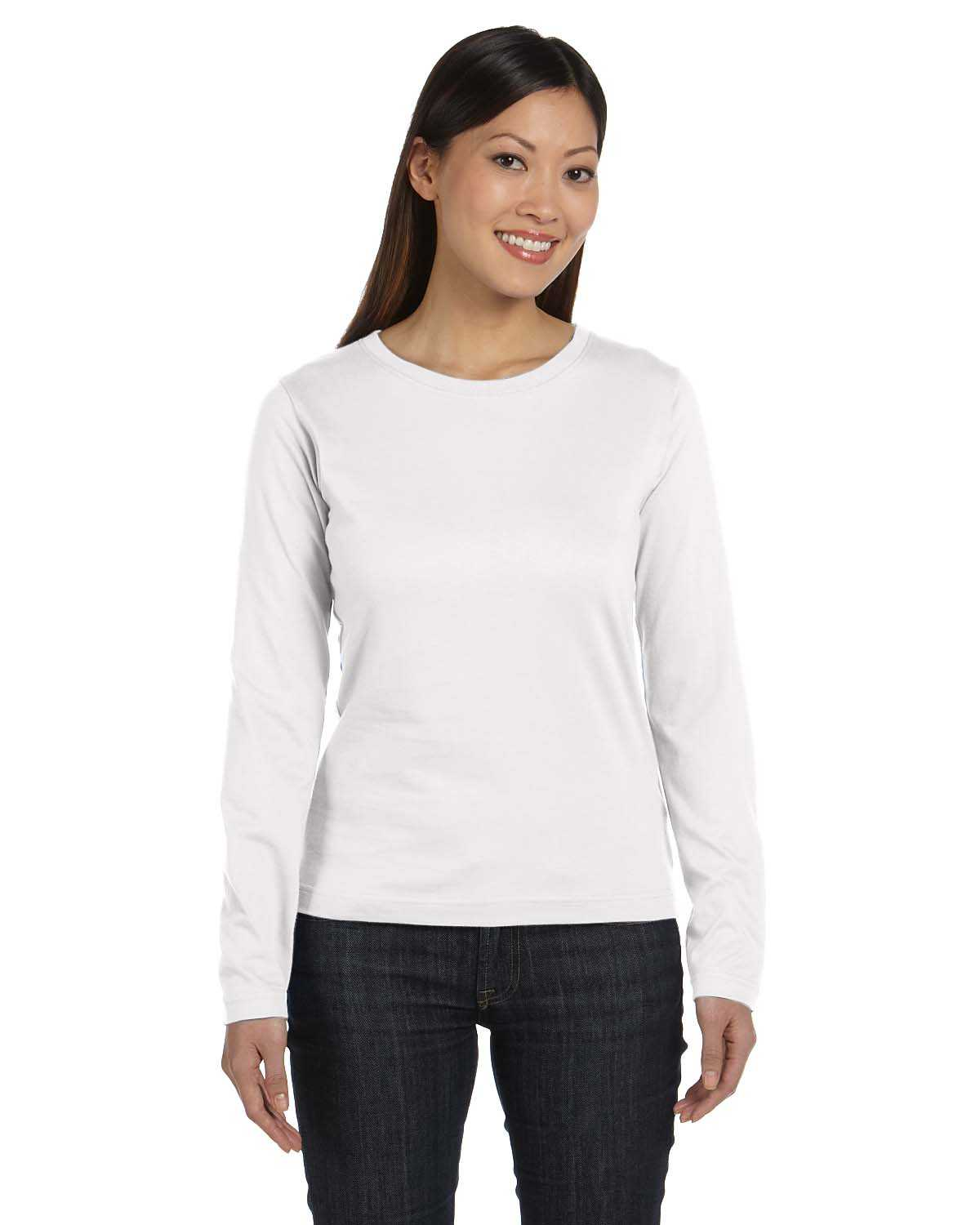 Lat 3588 ladies 39 long sleeve premium jersey t shirt for Misses long sleeve tee shirts