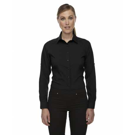 North End Sport Red 78804 Ladies' Rejuvenate Performance Shirt with Roll-Up Sleeves